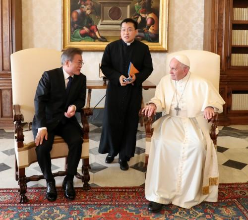 """교황, 이탈리아어로 """"나는 北에 갈 수 있다"""""""