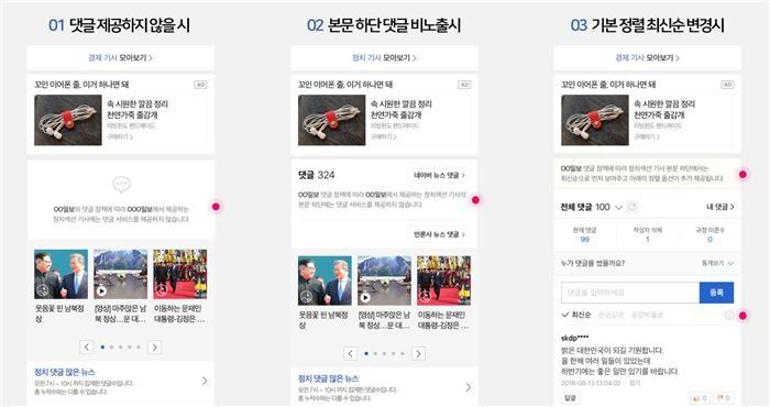네이버 뉴스 댓글, 언론사가 운영 방식 결정