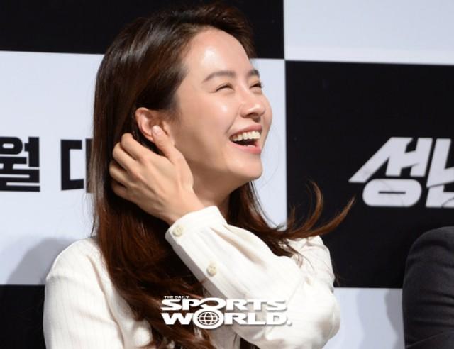 배우 송지효의 해맑은 웃음