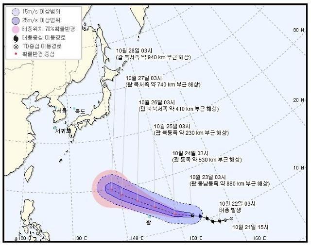 제26호 태풍 '위투', 강한 중형급으로 발달할 듯…우리나라 영향 가능성은?