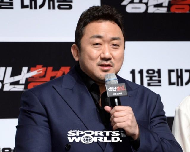 '성난황소' 마동석, 송지효 몇번 못만났다