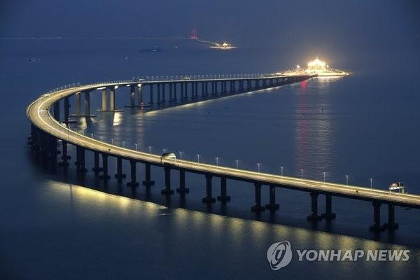 '세계 최장 다리' 강주아오 대교 정식 개통…홍콩~마카오까지 30분