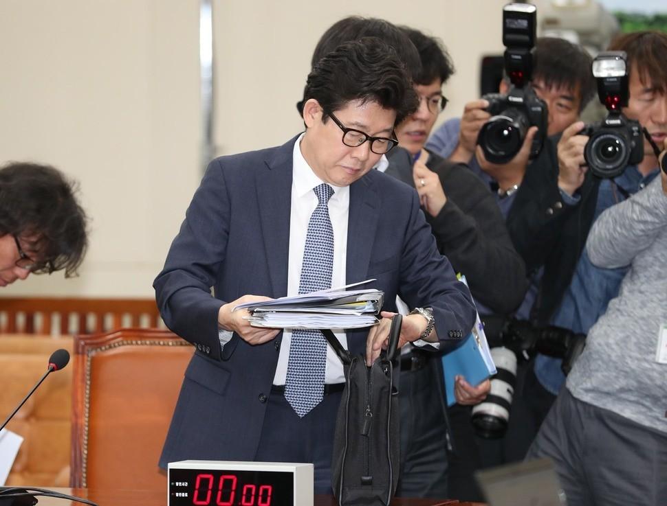조명래 환경부장관 후보 청문회 시작도 못하고 파행