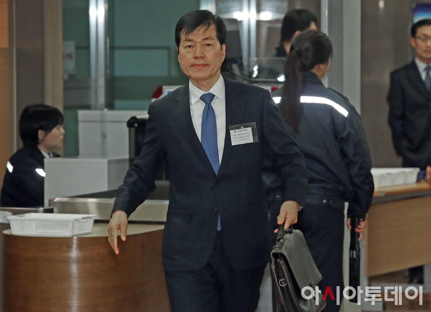 증선위 회의 참석하는 김태한 삼성바이오로직스 대표이사