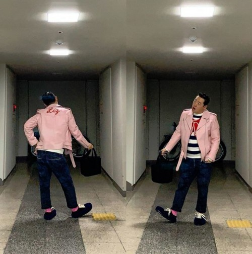 """신우식, '굿모닝 FM 김제동입니다' 출근길 인증샷 """"남자는 분홍…오빠 이거 입어"""""""