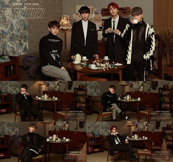 하이라이트, 스페셜 앨범 'OUTRO' 두 번째 콘셉트 이미지 공개…고독한 가을 남자 향기 물씬