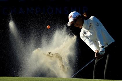 [포토-LPGA] 투어 챔피언십, 최운정의 벙커샷