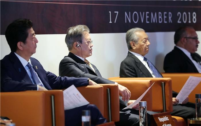 """문 대통령 """"WTO 중심 다자무역체제 회복 위해 노력해야"""""""