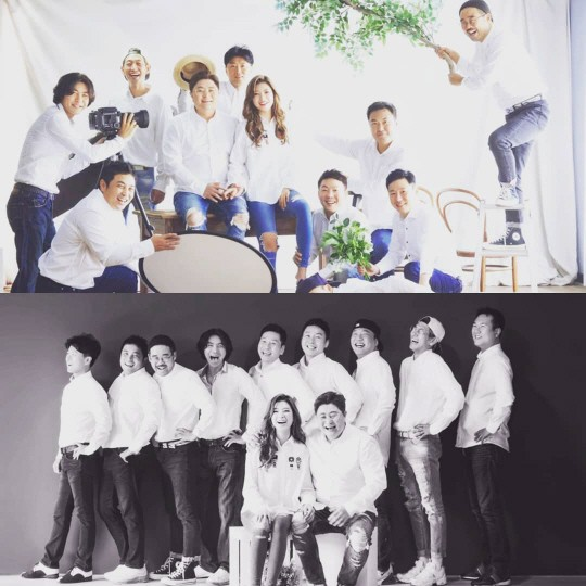 "DJ DOC 정재용♥이선아, 웨딩사진 공개…김창열 ""드디어 유부클럽"""