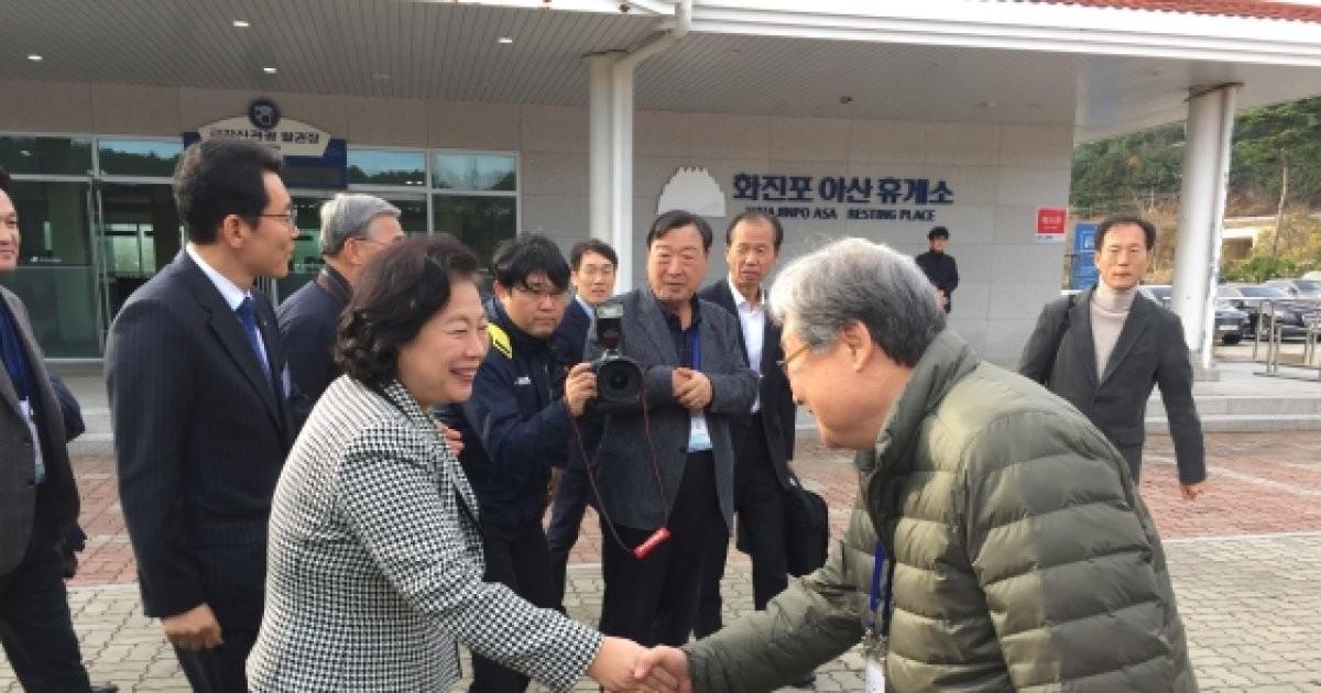 현정은 회장 등 참석 금강산관광 기념 행사 4년 만에 열려