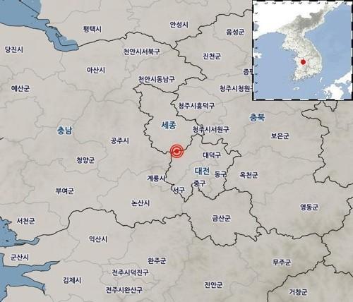 """""""가깝고 강해졌다""""…대전 유성구서 규모 2.1 지진, 11개월만에 4km 근접"""