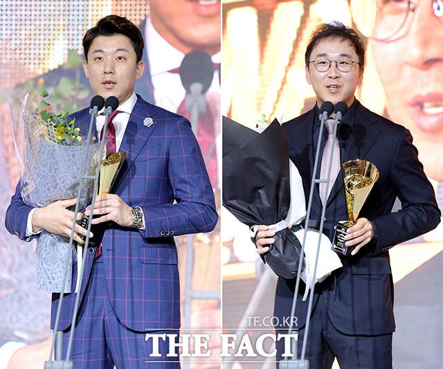 오현택-정우람, '2018 KBO 시상식' 투수 부문 수상