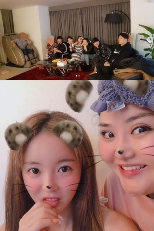 홍진영 언니 홍선영, '본방사수' 인증샷…'잘태' 매니저+부모님도 함께