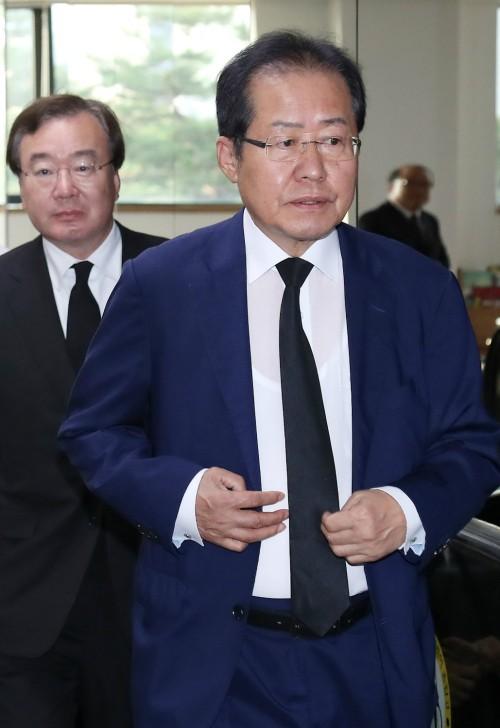 홍준표 현실정치 복귀선언에… 계파별 반응 제각각