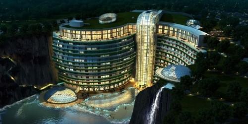 폐 채석장, 이색적인 최고급 호텔로 변신