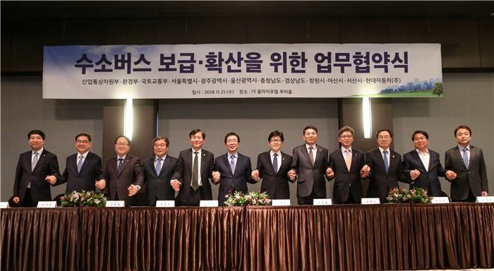 현대차, 수소전기버스 서울시 시범 투입…내년 6개도시 확대