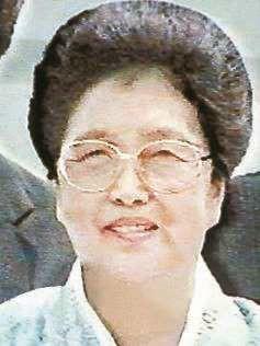 김일성 둘째 부인 김성애 사망