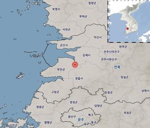 """전북 부안서 규모 2.3 지진…기상청 """"피해 없을 것"""""""