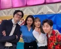 라디오스타 장윤주, 출연 인증샷…김원중-딘딘-홍진영과 함께