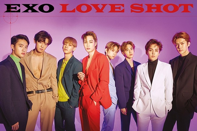 엑소, 정규 5집 리패키지 'LOVE SHOT' 아이튠즈 전 세계 60개 지역 1위