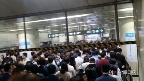 1호선 천안행 급행 열차 운행 중 장애로 정차…50분간 운행 차질