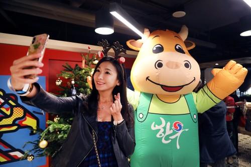 한우자조금, 홍콩서 '한우 크리스마스 파티' 열어