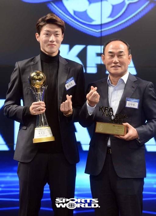 김학범 감독-황의조,'한국축구 사랑합니다'