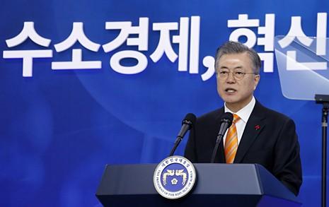 울산에 간 문재인 대통령 '수소경제시대' 선언