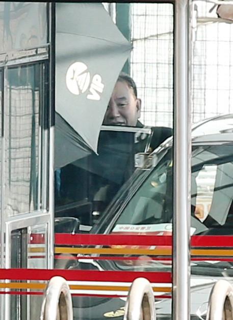 북한 김영철, 17일 워싱턴행 위해 베이징 도착