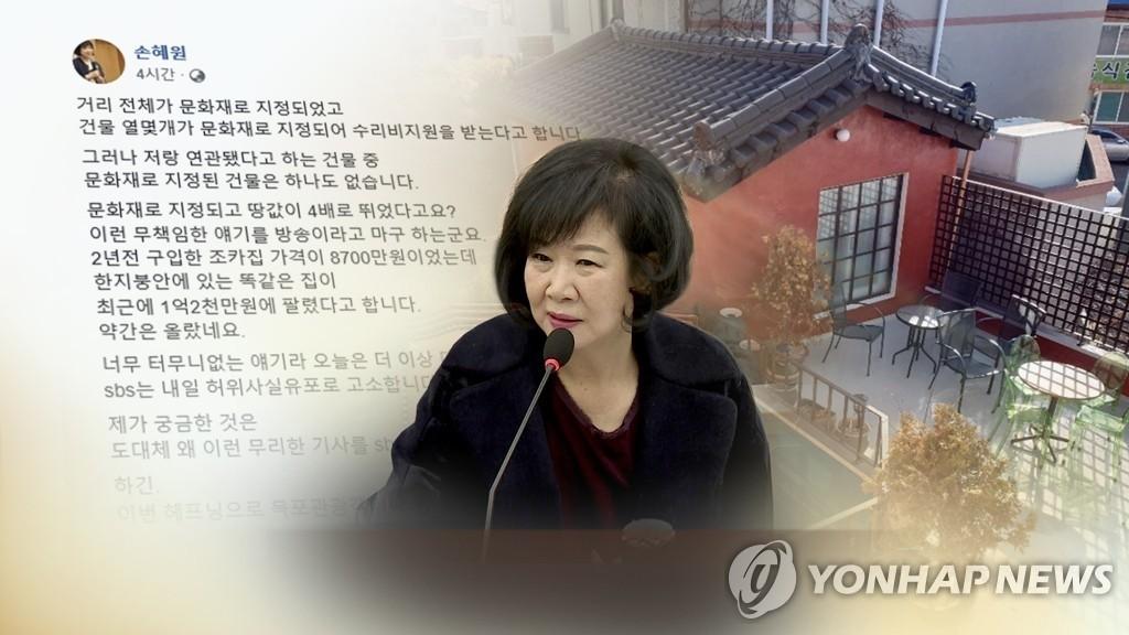 """손혜원 의원 향해 난타전…野 """"권력형 게이트"""" 與 """"대단한 상상력"""""""