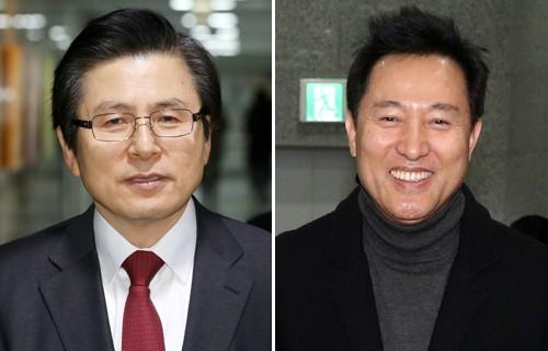 TK 끌어안는 황교안·오세훈… 한국당 '당권경쟁' 불 붙었다