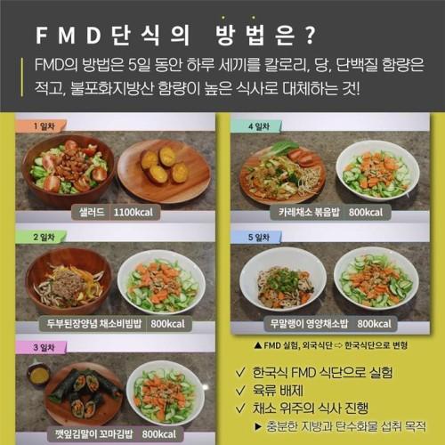 '먹으면서 뺀다' FMD 식단… 나도 한 번 해볼까?