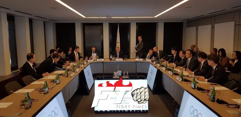 이기흥 대한체육회장, 남·북·IOC 3자회담서 남북단일팀 구성 합의