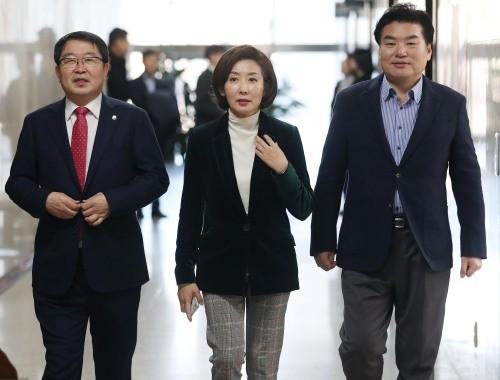 """""""왜 남북관계만 빨리 가는가""""…美 우려 전한 나경원"""
