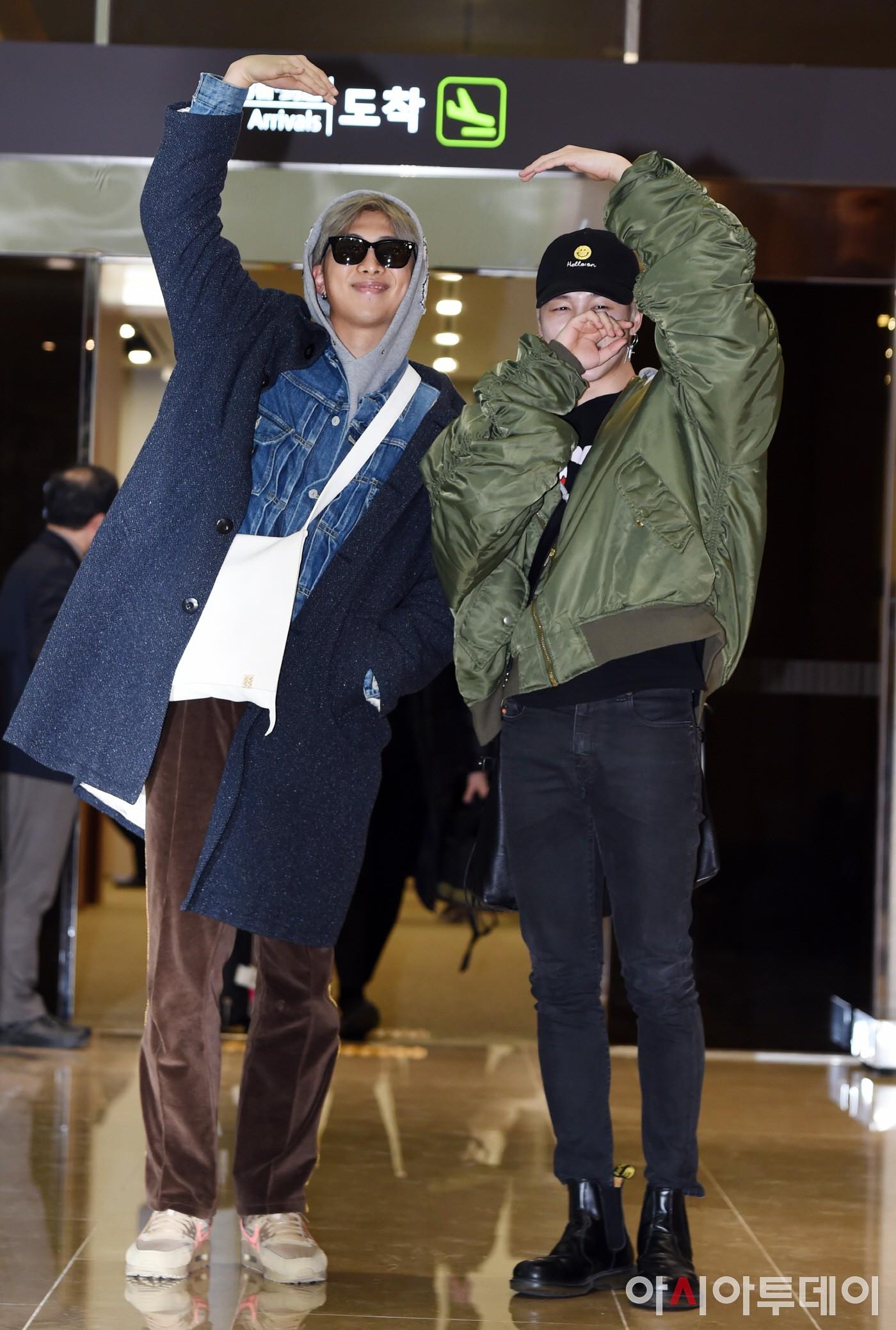 방탄소년단 RM-지민, 제이홉, 생일축하해!