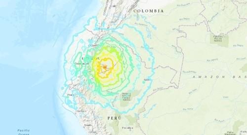 """에콰도르 강진, '규모 7.5' 강한 흔들림 """"전국에서 느껴져"""""""