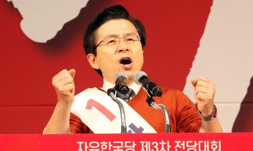'박근혜 덫' 빠진 黃…개혁보수·태극기부대 안으려다가 '황설수설'