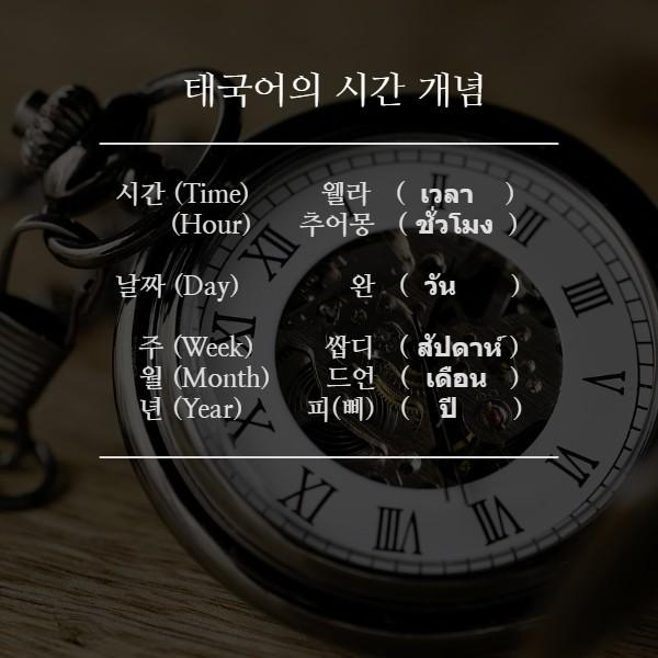 태국어의 시간 개념 ⑧