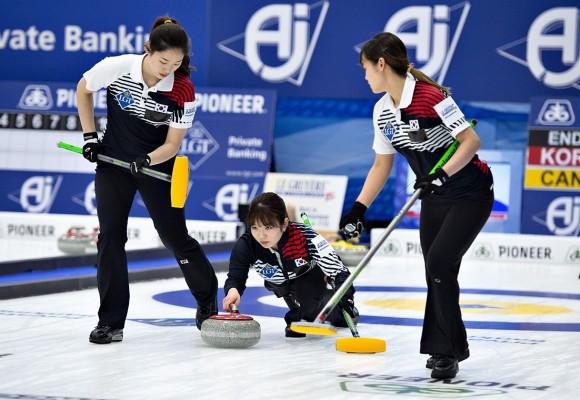 여자컬링, 스웨덴에 패배… 세계선수권 3연승 마감