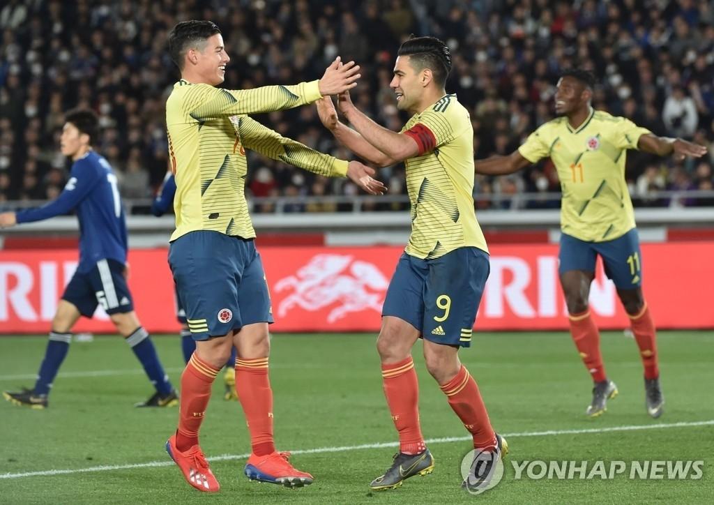 콜롬비아, 일본에 1-0 승리…팔카오 PK골