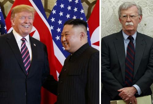 """볼턴 """"트럼프 대통령, 김정은에 여러가지 선택지 줬다"""""""