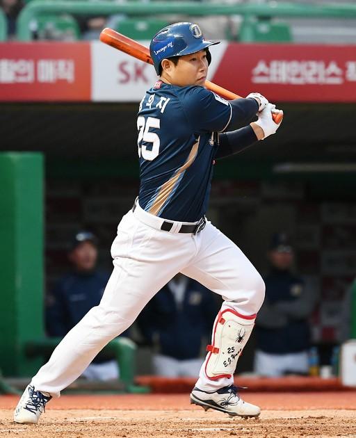 '추격 의지' NC 양의지, 시즌 6호 홈런 작렬