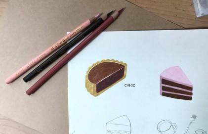 색연필 일러스트 _ 디저트 그리기 _colorpencil illustrarion _ dessert food
