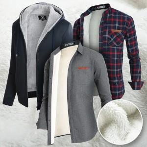A남성셔츠/기모셔츠/양털/체크남방/겨울남방/기모남방