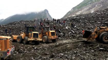 中 쓰촨성 산사태로 120여 명 매몰...구조 난항