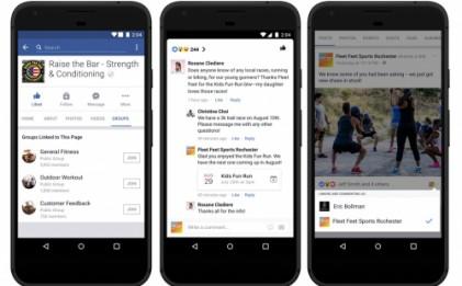 페이스북, 페이지와 그룹 연동 '페이지를 위한 그룹' 추가