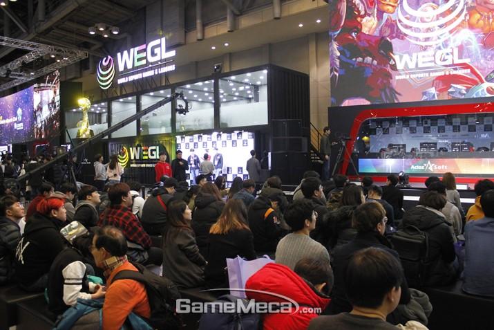 인산인해 이룬 WEGL, 액토즈소프트 e스포츠 데뷔