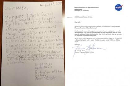 NASA 입사 지원한 9세 소년…그 결과는?