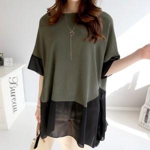 여름신상 루즈핏 날씬한 원피스 티셔츠 블라우스