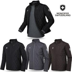 몽크로스 스위스 NEW 퀼팅 스웨이드 패딩 자켓